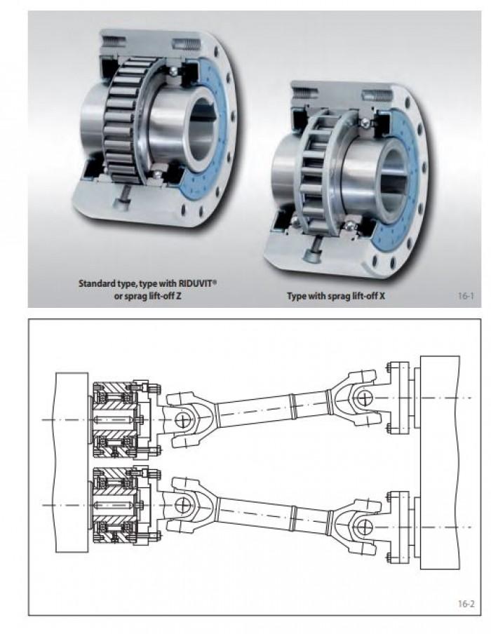 Bộ chống quay ngược Ringspann backstop Freewheels FXM  MÔ TẢ: Bộ chống quay ngược Ringspann có bánh xe quay tự do được đóng kín bởi vòng bi. Chúng được cung cấp đầy dầu và sẵn sàng để lắp đặt.   Đại Hồng Phát cung cấp đủ loại Backstop Freewheel – Bộ Chống Xoay Ngược Backstop đến những dây chuyền sản xuất như: nhà máy xi măng, sắt thép, nhà máy thủy điện, nhà máy chế biến gỗ, nhà máy sản xuất mì ăn và trong hầu hết tất cả các dây truyền trong ngành công nghiệp.  Bộ Backstop cho phép trục động cơ xoay theo chiều mong muốn và các backstop freewheel ngăn xoay ngược lại ổ đĩa bị ngắt kết nối.  Nguyên lý hoạt động: khi trục động cơ quay đúng chiều thì những viên bi trong bộ backstop freewheel bung ra và kết nối động cơ với tải. Còn nếu ngược chiều khi những viên bi này xếp lại, cách ly động cơ với tải.  Hãng sản xuất: Ringspann, hàng châu Âu tiêu chuẩn cao.1