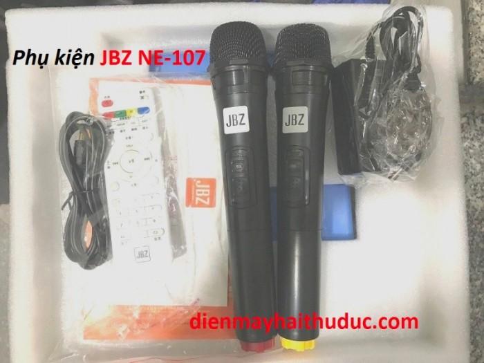 Loa kéo JBZ NE-107 Phụ kiện: 2 Micro không dây, sạc, dây Line, Điều khiển, sách hướng dẫn sử dụng.0