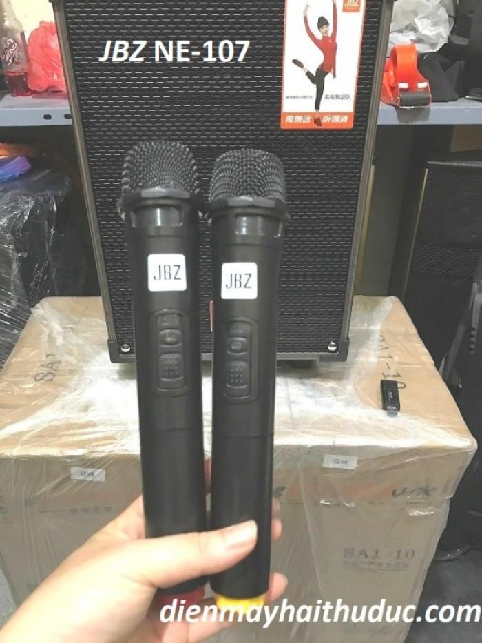 Loa kéo JBZ NE-107 Chất âm từ micro hay, nhẹ hát và kèm theo 2 micro không dây4