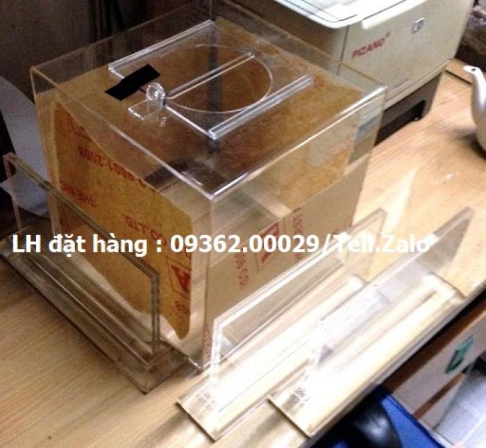 Hộp bỏ phiếu mica vuông có sẵn tại Hà Nội2