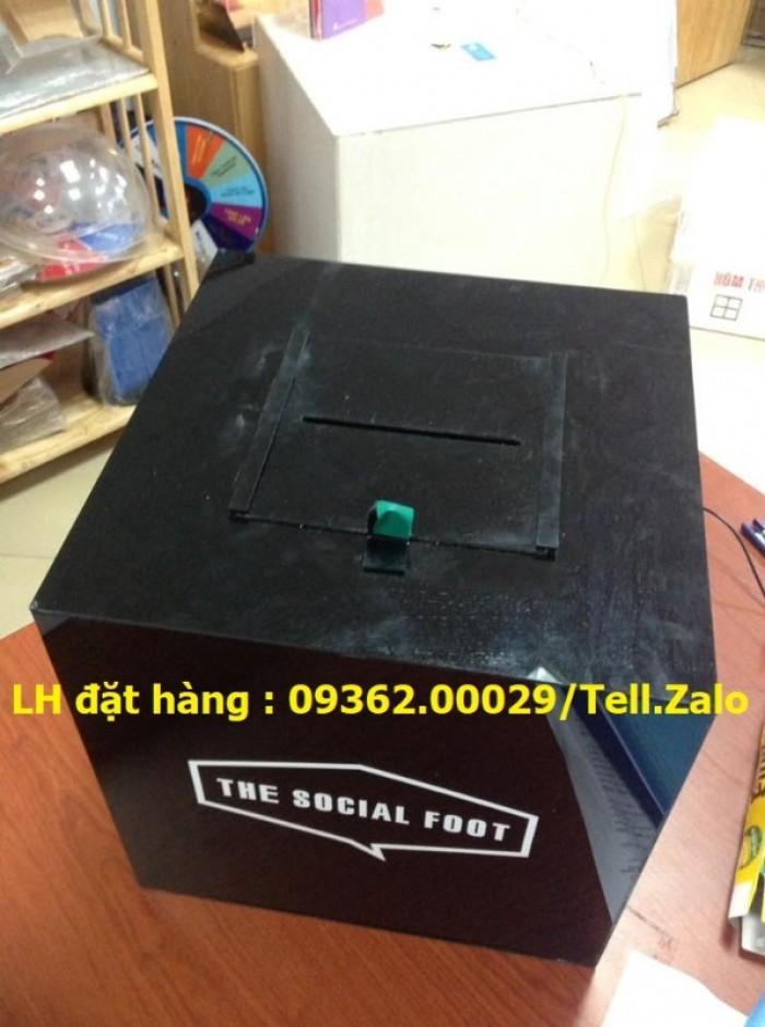 Hộp bỏ phiếu mica vuông có sẵn tại Hà Nội11