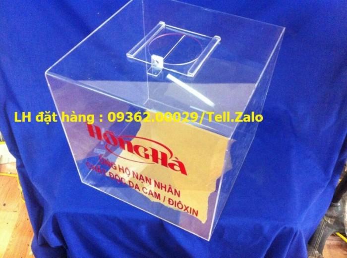 Hộp bỏ phiếu mica vuông có sẵn tại Hà Nội6