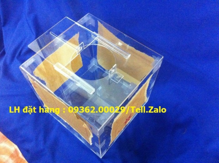 Hộp bỏ phiếu mica vuông có sẵn tại Hà Nội7
