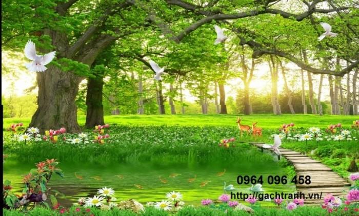 Tranh phong cảnh - gạch tranh 3d cao cấp1
