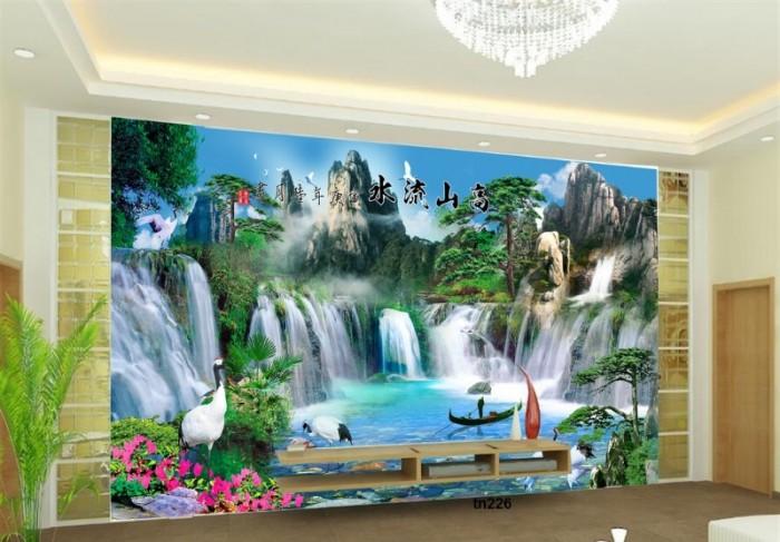 Tranh 3d thác nước - gạch tranh 3d0