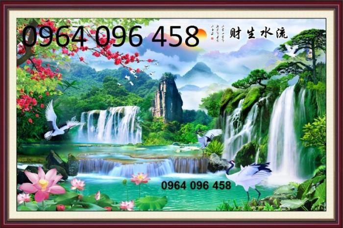 Tranh 3d thác nước - gạch tranh 3d1