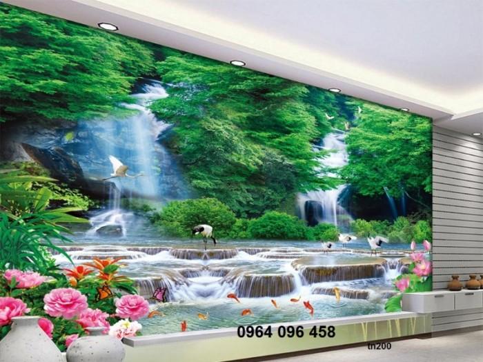 Tranh 3d thác nước - gạch tranh 3d3