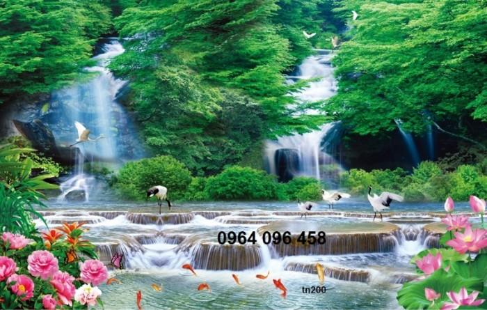 Tranh 3d thác nước - gạch tranh 3d6
