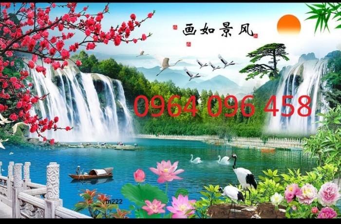 Tranh 3d thác nước - gạch tranh 3d4