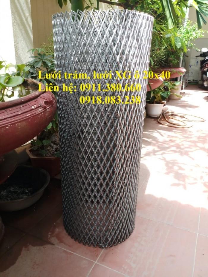 Lưới trám, lưới dập giãn 20x40. Khổ 1m, 1.2m/ cuộn0
