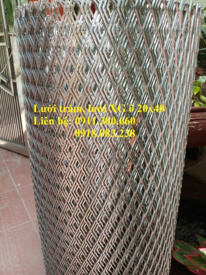 Lưới trám, lưới dập giãn 20x40. Khổ 1m, 1.2m/ cuộn3