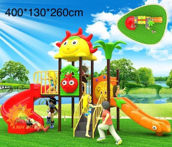 Cầu trượt liên hoàn trong nhà - ngoài trời dành cho trẻ em mầm non3