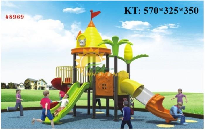 Cầu trượt liên hoàn trong nhà - ngoài trời dành cho trẻ em mầm non2
