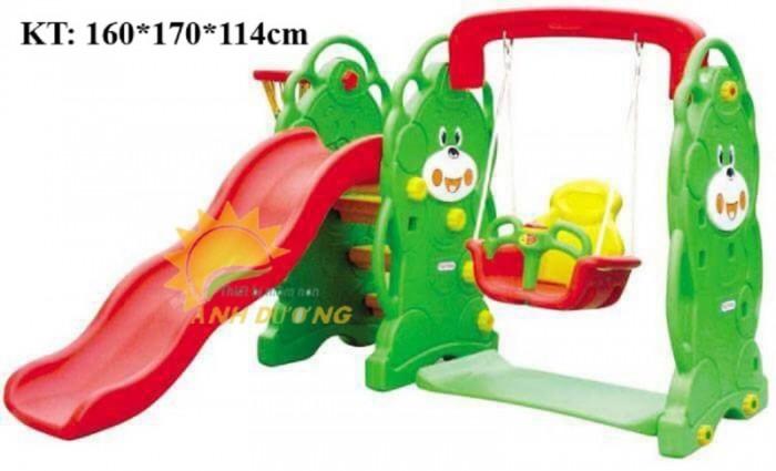 Cầu trượt liên hoàn trong nhà - ngoài trời dành cho trẻ em mầm non10