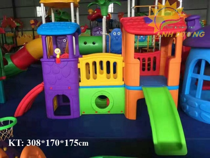 Cầu trượt liên hoàn trong nhà - ngoài trời dành cho trẻ em mầm non14