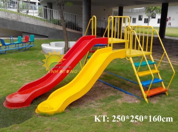 Cầu trượt liên hoàn trong nhà - ngoài trời dành cho trẻ em mầm non16
