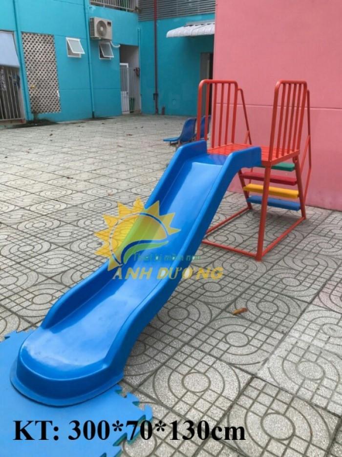 Cầu trượt liên hoàn trong nhà - ngoài trời dành cho trẻ em mầm non17