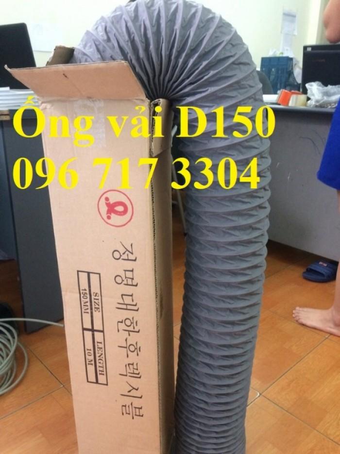 Ống gió mềm vải D100 giá rẻ0