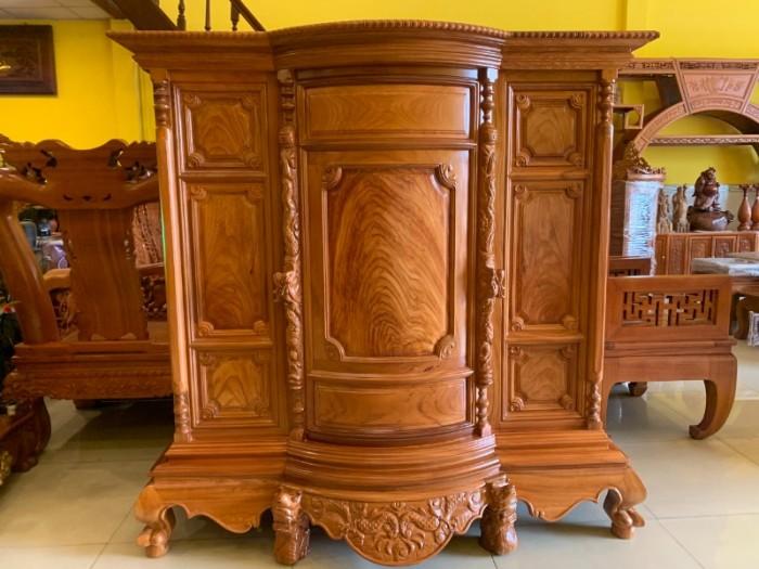 Tủ thờ gỗ gõ đỏ Lao nagng 1,53m vân cực đẹp giá cực sốc2