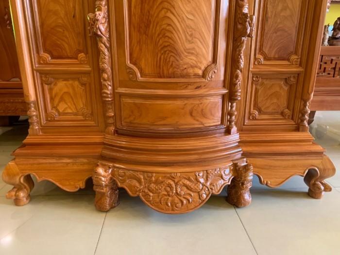Tủ thờ gỗ gõ đỏ Lao nagng 1,53m vân cực đẹp giá cực sốc1