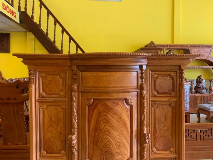 Tủ thờ gỗ gõ đỏ Lao nagng 1,53m vân cực đẹp giá cực sốc3