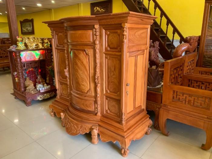 Tủ thờ gỗ gõ đỏ Lao nagng 1,53m vân cực đẹp giá cực sốc4