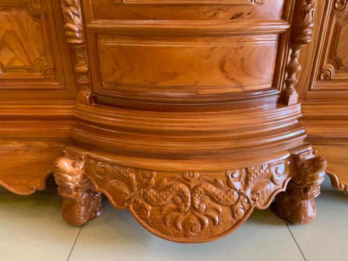 Tủ thờ gỗ gõ đỏ Lao nagng 1,53m vân cực đẹp giá cực sốc0