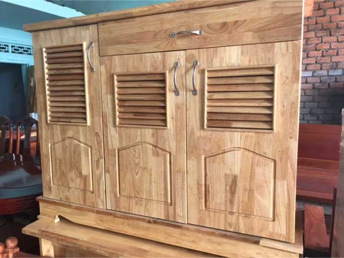 Tủ dép gỗ cao su0
