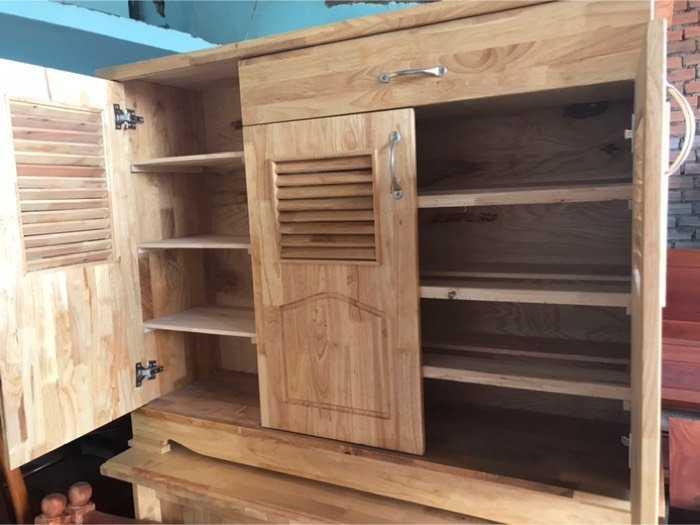 Tủ dép gỗ cao su1