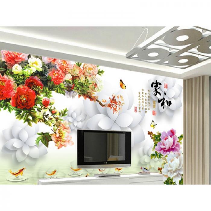 Tranh gạch phòng khách- tranh đẹp 3D1