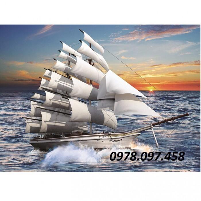 Tranh thuận buồm xuôi gió- tranh gạch men2