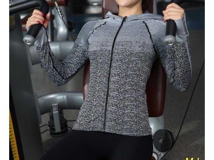 Áo khoác nữ body tập gum yoya viền chữ0