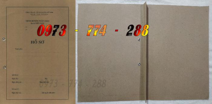 Bìa kẹp bảng kê thành phần, tài liệu trong hồ sơ - của bộ nội vụ17