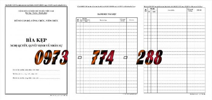 Bìa hồ sơ cán bộ, công chức, viên chức0