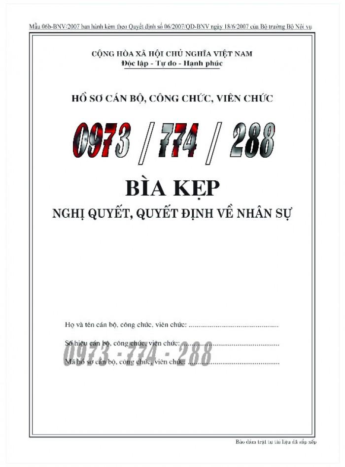 Bìa hồ sơ cán bộ, công chức, viên chức2