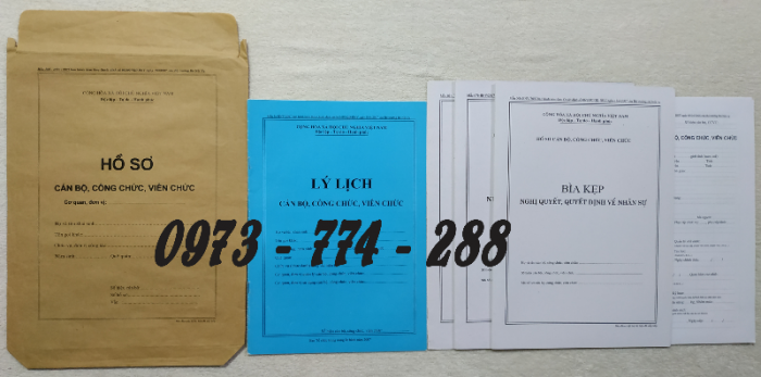 Bán hồ sơ cán bộ công chức, viên chức của bộ nội vụ  mẫu B06 bnv/2008 ban hành0