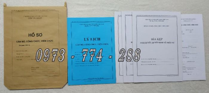 Bán hồ sơ cán bộ công chức, viên chức của bộ nội vụ  mẫu B06 bnv/2008 ban hành1