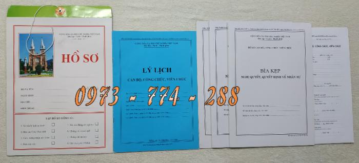 Bán hồ sơ cán bộ công chức, viên chức của bộ nội vụ  mẫu B06 bnv/2008 ban hành2