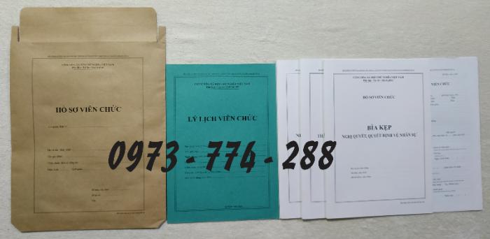 Bán hồ sơ cán bộ công chức, viên chức của bộ nội vụ  mẫu B06 bnv/2008 ban hành3
