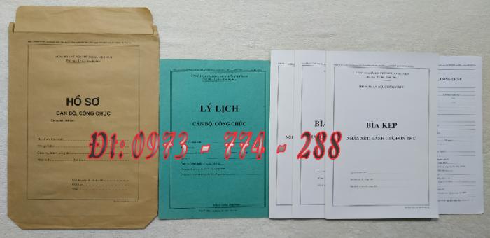 Bán hồ sơ cán bộ công chức, viên chức của bộ nội vụ  mẫu B06 bnv/2008 ban hành6