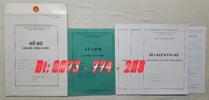Bán hồ sơ cán bộ công chức, viên chức của bộ nội vụ  mẫu B06 bnv/2008 ban hành8