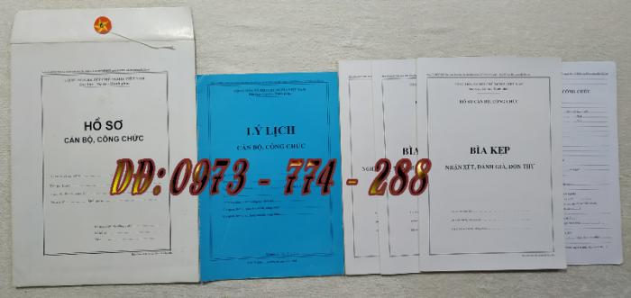 Bán hồ sơ cán bộ công chức, viên chức của bộ nội vụ  mẫu B06 bnv/2008 ban hành12