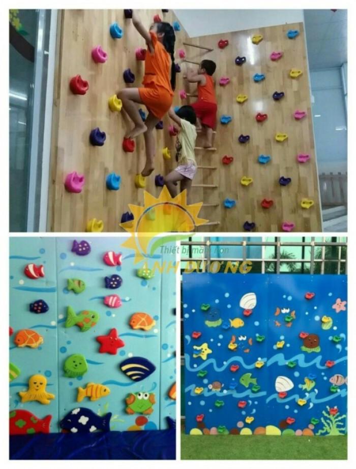 Chuyên thi công, lắp đặt tường leo núi vận động dành cho trẻ em mầm non7