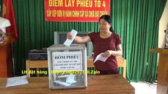 Xưởng chuyên  sản xuất hòm phiếu mica, thùng phiếu mica tại quận Thanh Xuân5