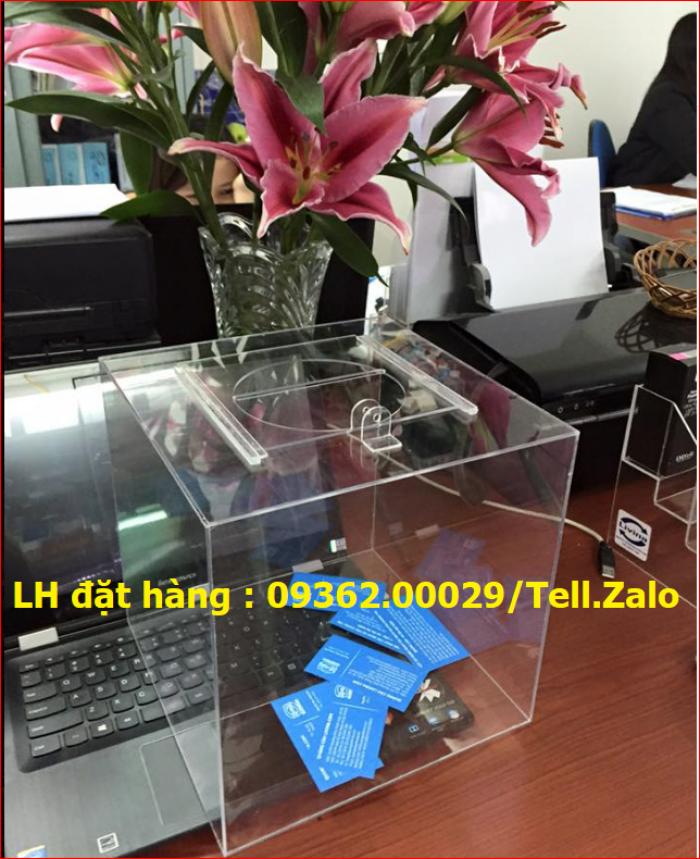 Xưởng chuyên  sản xuất hòm phiếu mica, thùng phiếu mica tại quận Thanh Xuân11