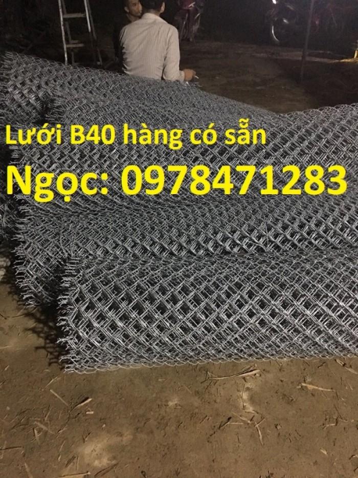 Chuyên cung cấp lưới B40 mạ kẽm dùng làm hàng rào, ngăn chuồng trại.6