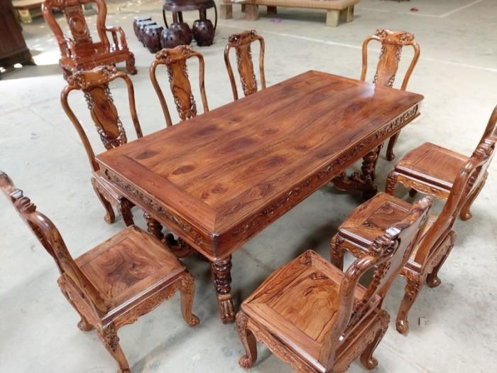 Bộ bàn ăn gỗ cẩm lai tuyển chọn VIP tại Quận 71