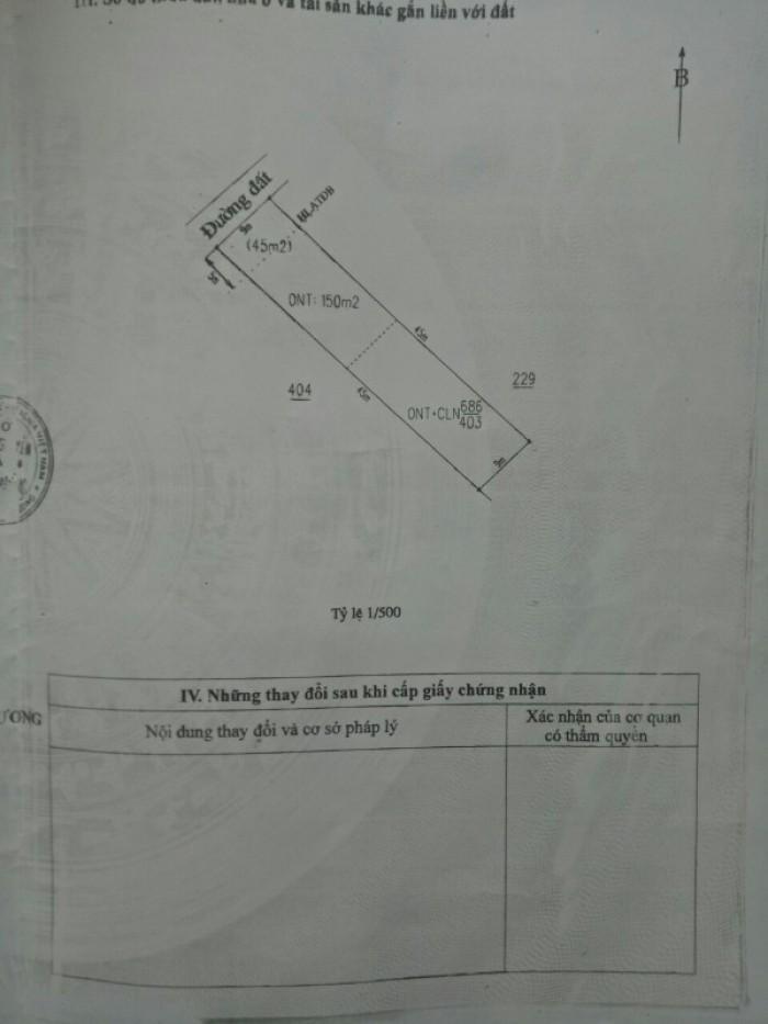 Bán đất TX.Tân Uyên, Bình Dương, DT:405m2, TC150m2, SHR, giá 2,0 tỷ.3