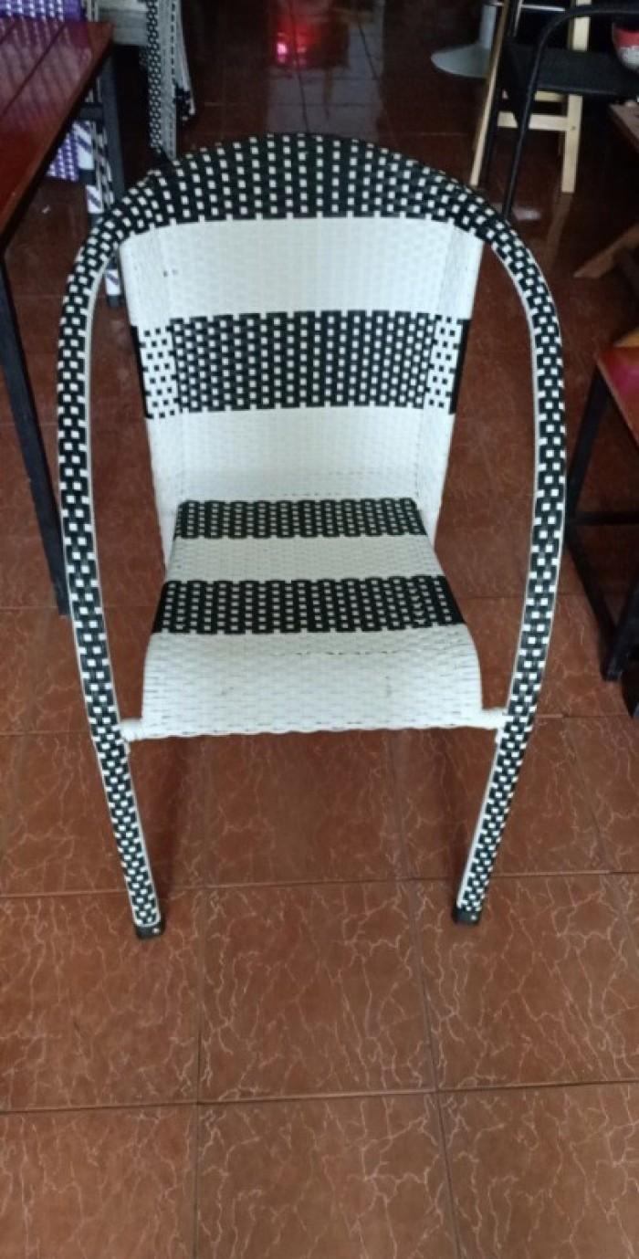 Thanh lý bộ bàn ghế mây nhựa cafe giá rẻ