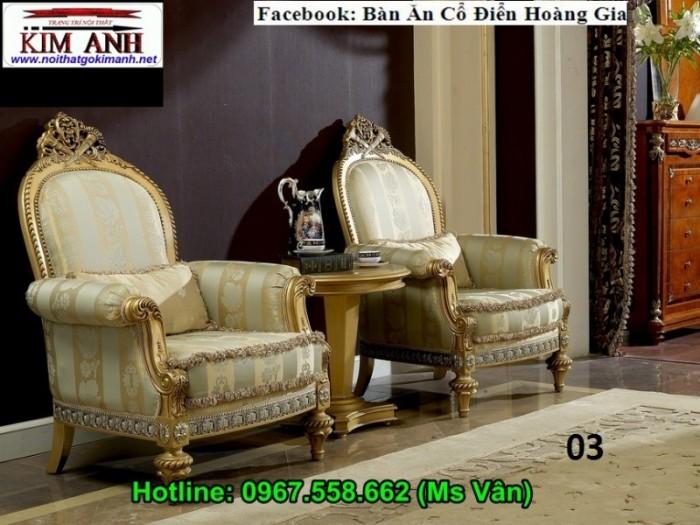 bộ bàn ghế phòng khách cổ điển cao cấp 3